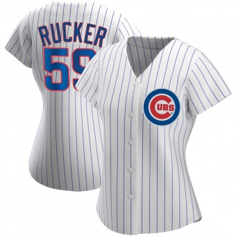 Women's Michael Rucker Chicago White Authentic Home Baseball Jersey (Unsigned No Brands/Logos)