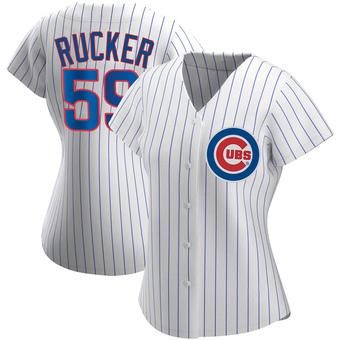 Women's Michael Rucker Chicago White Replica Home Baseball Jersey (Unsigned No Brands/Logos)