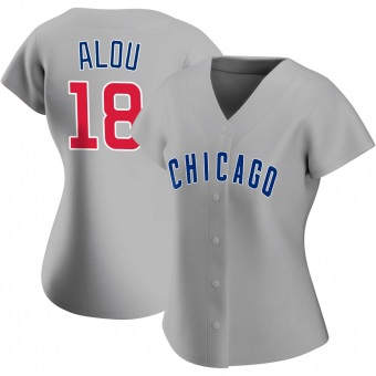 Women's Moises Alou Chicago Gray Replica Road Baseball Jersey (Unsigned No Brands/Logos)