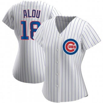 Women's Moises Alou Chicago White Authentic Home Baseball Jersey (Unsigned No Brands/Logos)