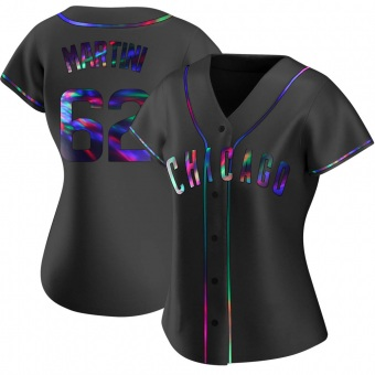 Women's Nick Martini Chicago Black Holographic Replica Alternate Baseball Jersey (Unsigned No Brands/Logos)