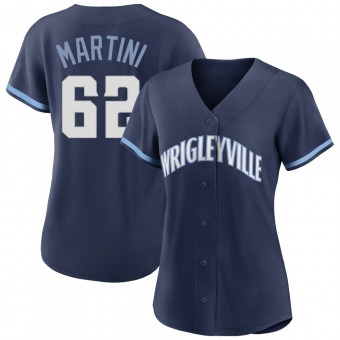 Women's Nick Martini Chicago Navy Authentic 2021 City Connect Baseball Jersey (Unsigned No Brands/Logos)
