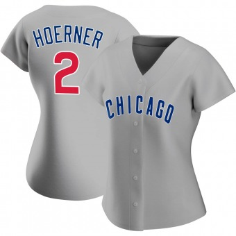 Women's Nico Hoerner Chicago Gray Authentic Road Baseball Jersey (Unsigned No Brands/Logos)
