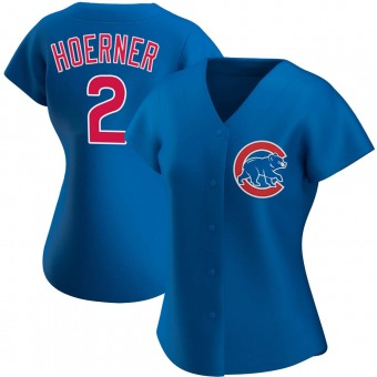 Women's Nico Hoerner Chicago Royal Authentic Alternate Baseball Jersey (Unsigned No Brands/Logos)