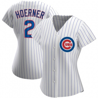 Women's Nico Hoerner Chicago White Authentic Home Baseball Jersey (Unsigned No Brands/Logos)