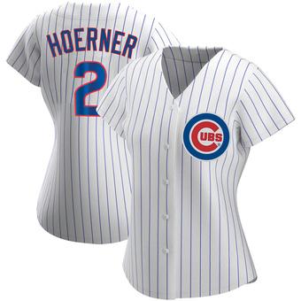 Women's Nico Hoerner Chicago White Replica Home Baseball Jersey (Unsigned No Brands/Logos)