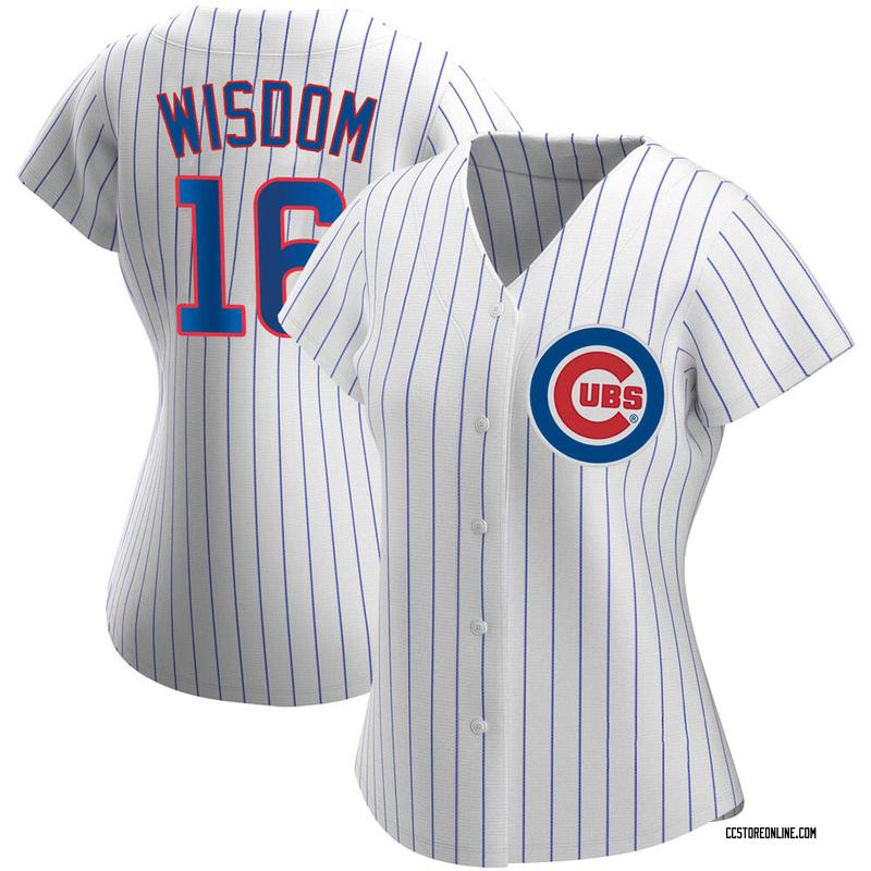 Women's Patrick Wisdom Chicago White Replica Home Baseball Jersey (Unsigned No Brands/Logos)