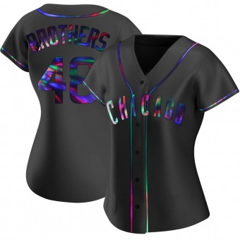 Women's Rex Brothers Chicago Black Holographic Replica Alternate Baseball Jersey (Unsigned No Brands/Logos)