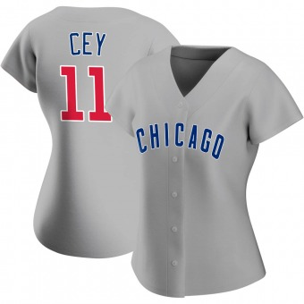 Women's Ron Cey Chicago Gray Authentic Road Baseball Jersey (Unsigned No Brands/Logos)