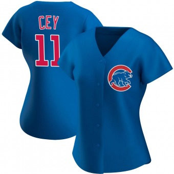 Women's Ron Cey Chicago Royal Authentic Alternate Baseball Jersey (Unsigned No Brands/Logos)