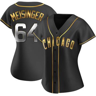 Women's Ryan Meisinger Chicago Black Golden Alternate Baseball Jersey (Unsigned No Brands/Logos)