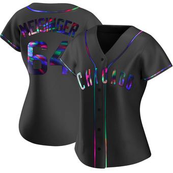 Women's Ryan Meisinger Chicago Black Holographic Alternate Baseball Jersey (Unsigned No Brands/Logos)