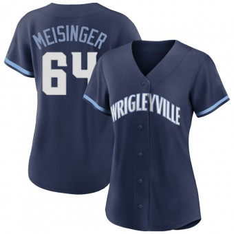 Women's Ryan Meisinger Chicago Navy Authentic 2021 City Connect Baseball Jersey (Unsigned No Brands/Logos)
