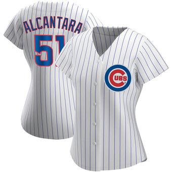 Women's Sergio Alcantara Chicago White Authentic Home Baseball Jersey (Unsigned No Brands/Logos)