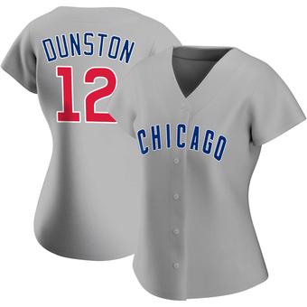Women's Shawon Dunston Chicago Gray Replica Road Baseball Jersey (Unsigned No Brands/Logos)