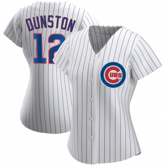 Women's Shawon Dunston Chicago White Authentic Home Baseball Jersey (Unsigned No Brands/Logos)