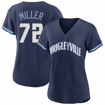 Women's Tyson Miller Chicago Navy Replica 2021 City Connect Baseball Jersey (Unsigned No Brands/Logos)