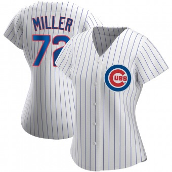 Women's Tyson Miller Chicago White Authentic Home Baseball Jersey (Unsigned No Brands/Logos)