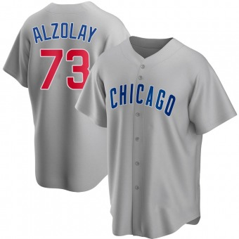 Youth Adbert Alzolay Chicago Gray Replica Road Baseball Jersey (Unsigned No Brands/Logos)
