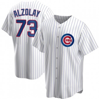 Youth Adbert Alzolay Chicago White Replica Home Baseball Jersey (Unsigned No Brands/Logos)