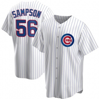 Youth Adrian Sampson Chicago White Replica Home Baseball Jersey (Unsigned No Brands/Logos)