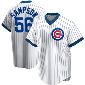 Youth Adrian Sampson Chicago White Replica Home Cooperstown Collection Baseball Jersey (Unsigned No Brands/Logos)