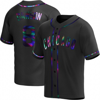 Youth Andre Dawson Chicago Black Holographic Replica Alternate Baseball Jersey (Unsigned No Brands/Logos)