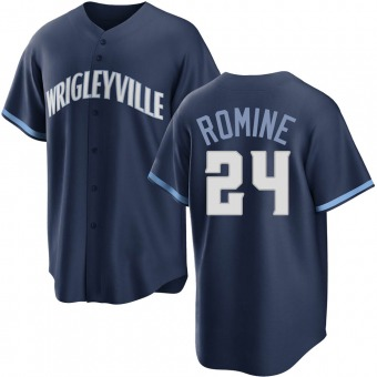 Youth Andrew Romine Chicago Navy Replica 2021 City Connect Baseball Jersey (Unsigned No Brands/Logos)