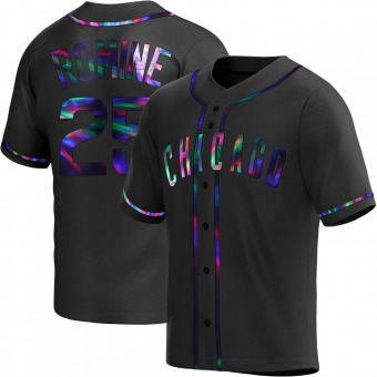 Youth Austin Romine Chicago Black Holographic Alternate Baseball Jersey (Unsigned No Brands/Logos)