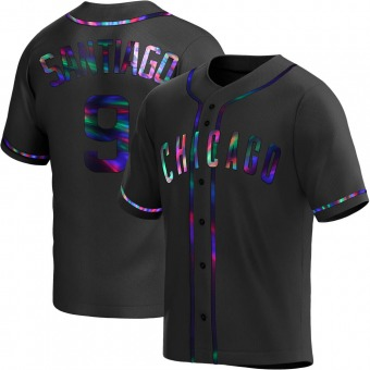 Youth Benito Santiago Chicago Black Holographic Replica Alternate Baseball Jersey (Unsigned No Brands/Logos)