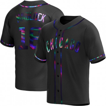 Youth Bill Madlock Chicago Black Holographic Replica Alternate Baseball Jersey (Unsigned No Brands/Logos)