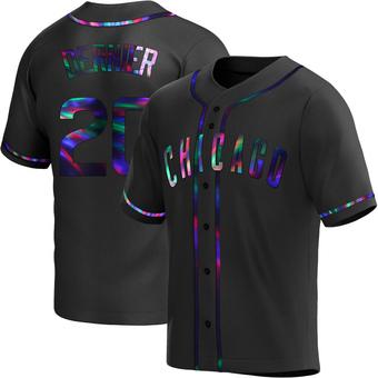 Youth Bob Dernier Chicago Black Holographic Replica Alternate Baseball Jersey (Unsigned No Brands/Logos)
