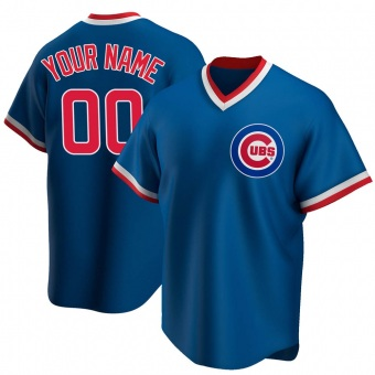 Youth Custom Chicago Royal Replica Road Cooperstown Collection Baseball Jersey (Unsigned No Brands/Logos)