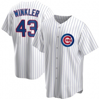 Youth Dan Winkler Chicago White Replica Home Baseball Jersey (Unsigned No Brands/Logos)