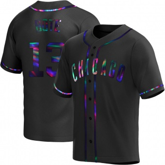Youth David Bote Chicago Black Holographic Replica Alternate Baseball Jersey (Unsigned No Brands/Logos)