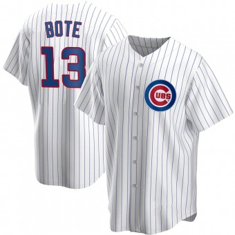 Youth David Bote Chicago White Replica Home Baseball Jersey (Unsigned No Brands/Logos)