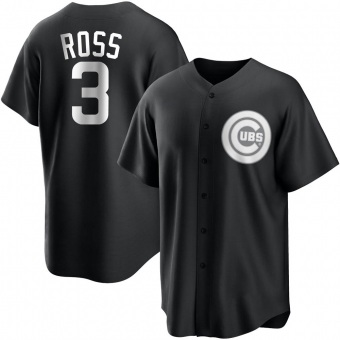 Youth David Ross Chicago Black/White Replica Baseball Jersey (Unsigned No Brands/Logos)