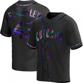 Youth Dennis Eckersley Chicago Black Holographic Replica Alternate Baseball Jersey (Unsigned No Brands/Logos)
