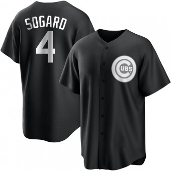 Youth Eric Sogard Chicago Black/White Replica Baseball Jersey (Unsigned No Brands/Logos)