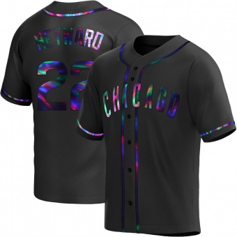 Youth Jason Heyward Chicago Black Holographic Replica Alternate Baseball Jersey (Unsigned No Brands/Logos)