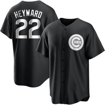 Youth Jason Heyward Chicago Black/White Replica Baseball Jersey (Unsigned No Brands/Logos)