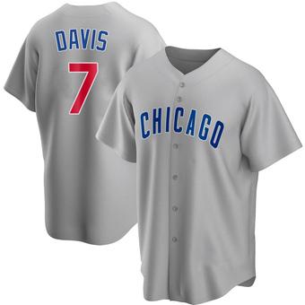 Youth Jody Davis Chicago Gray Replica Road Baseball Jersey (Unsigned No Brands/Logos)