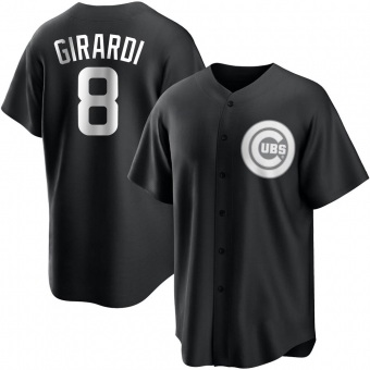 Youth Joe Girardi Chicago Black/White Replica Baseball Jersey (Unsigned No Brands/Logos)