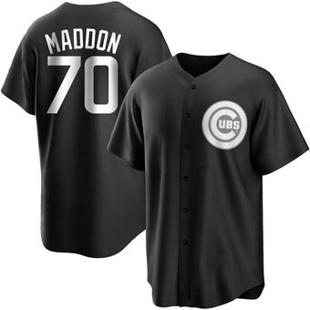 Youth Joe Maddon Chicago Black/White Replica Baseball Jersey (Unsigned No Brands/Logos)