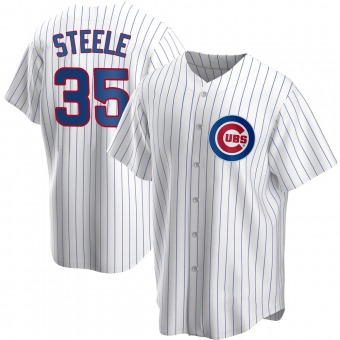 Youth Justin Steele Chicago White Replica Home Baseball Jersey (Unsigned No Brands/Logos)