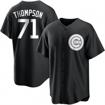 Youth Keegan Thompson Chicago Black/White Replica Baseball Jersey (Unsigned No Brands/Logos)