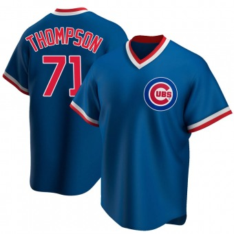 Youth Keegan Thompson Chicago Royal Replica Road Cooperstown Collection Baseball Jersey (Unsigned No Brands/Logos)