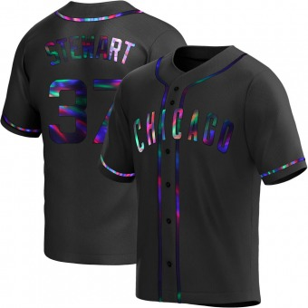 Youth Kohl Stewart Chicago Black Holographic Replica Alternate Baseball Jersey (Unsigned No Brands/Logos)
