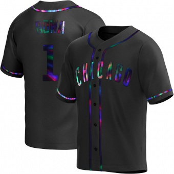 Youth Larry Bowa Chicago Black Holographic Replica Alternate Baseball Jersey (Unsigned No Brands/Logos)