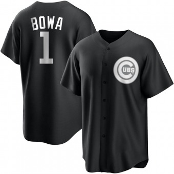 Youth Larry Bowa Chicago Black/White Replica Baseball Jersey (Unsigned No Brands/Logos)